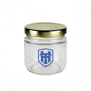 "Custom Glass Apothecary Jars : ""Honey Baby Jar"" : 1.25oz"