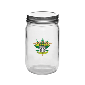 "Custom Glass Mason Jars : 16oz : ""The Hooch"""