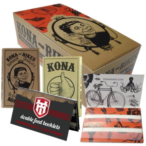 Custom Rolling Papers : Double Feed Booklets : 1000 MOQ