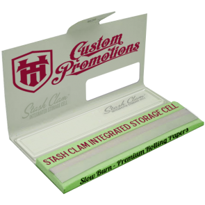 Custom Rolling Papers : Stash Clam™ Integrated Storage Cell : 5000 MOQ